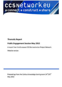Thematic report: Public engagement session May 2012