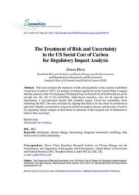 The treatment of risk and uncertainty in the US social cost of carbon for regulatory impact analysis
