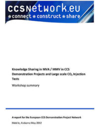 Knowledge sharing event in MVA/MMV in CCS: Demonstration projects and large scale CO2 injection tests: Workshop summary