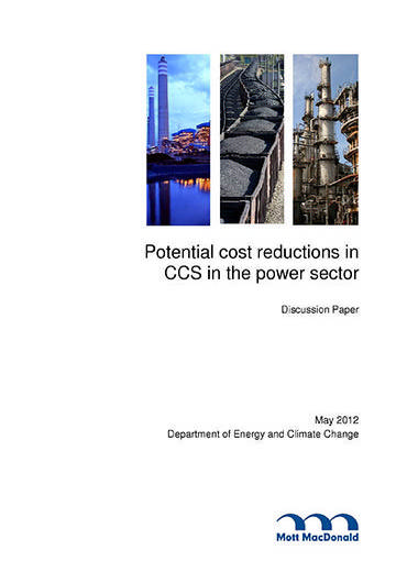 Potential cost reductions in CCS in the power sector: discussion paper