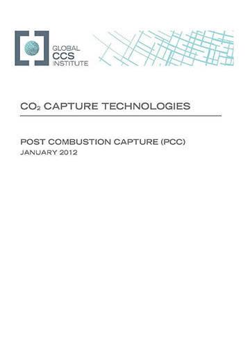 CO2 capture technologies: post combustion capture (PCC)