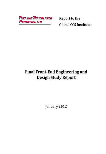 Final front-end engineering design (FEED) study report
