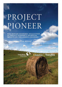Project Pioneer. Preliminary economic evaluation of Project Pioneer's potential impacts on the Alberta economy: non-confidential report