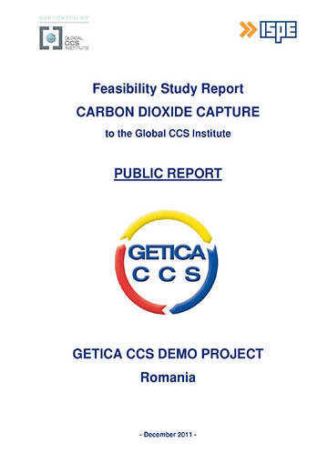 GETICA CCS Demo Project Romania. Feasibility study report: carbon dioxide capture to the Global CCS Institute. Public report