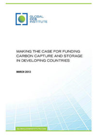 Making the case for funding carbon capture and storage in developing countries