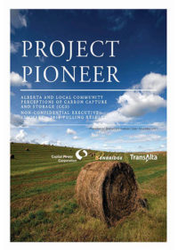 Project Pioneer. Canadian and Albertan perceptions of carbon capture and storage: establishing baselines