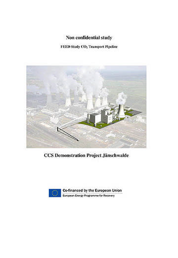 FEED study CO2 transport pipeline: CCS Demonstration Project Jänschwalde. Non confidential study.