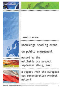 Thematic report: Knowledge sharing event on public engagement: Third 2011 sharing event