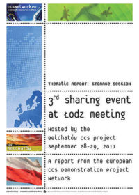 Thematic report: Storage session: 3rd sharing event at Lodz meeting