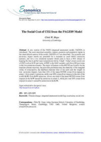 The social cost of CO2 from the PAGE09 model