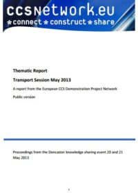 Thematic report: Transport session May 2013