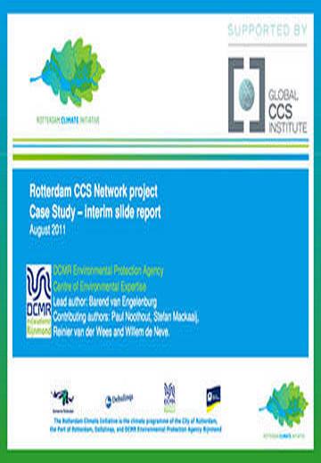 Rotterdam CCS Network Project. Case study: interim slide report