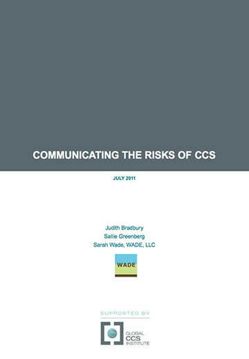 Communicating the risks of CCS