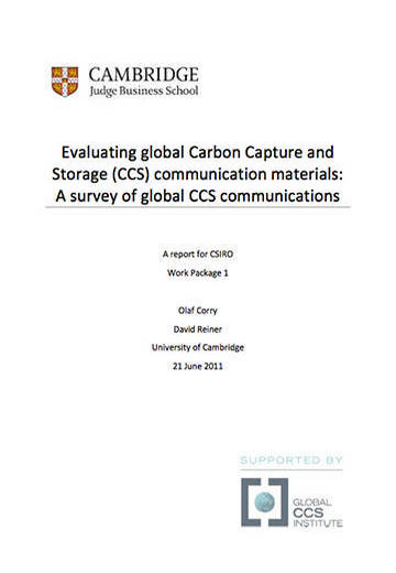 Evaluating global carbon capture and storage (CCS) communication materials: a survey of global CCS communications