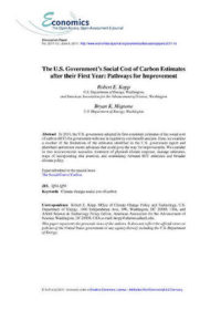 The U.S. Government's social cost of carbon estimates after their first year: pathways for improvement