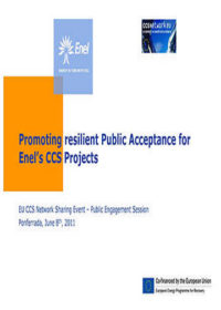 Promoting resilient public acceptance for Enel's CCS projects