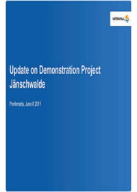 Update on demonstration project Jänschwalde