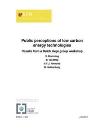 Public perceptions of low carbon energy technologies: Results from a Dutch large group workshop