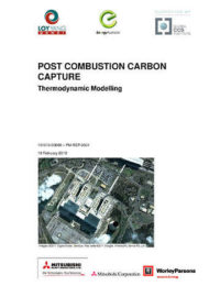 Post combustion carbon capture: thermodynamic modelling