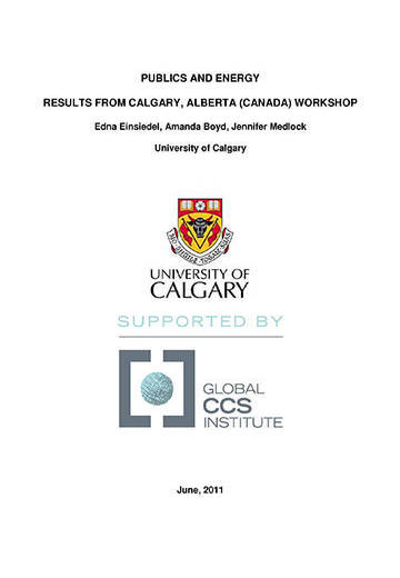 Publics and energy: results from Calgary, Alberta (Canada) workshop