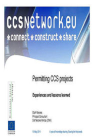 Permitting CCS projects: Experiences and lessons learned