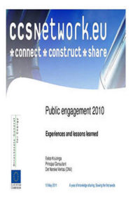 Public engagement 2010: Experiences and lessons learned
