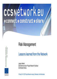 Risk management: Lessons learned from the Network