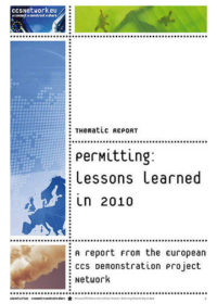 Thematic report: Permitting: Lessons learned in 2010
