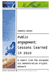 Thematic report: Public engagement: Lessons learned in 2010