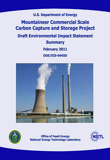 Mountaineer commercial scale carbon capture and storage project: draft environmental impact statement summary