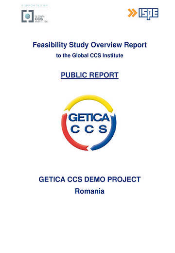 GETICA CCS Demo Project Romania: feasibility study overview report to the Global CCS Institute. Public report