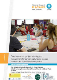 Communication, project planning and management for carbon capture and storage projects: an international comparison