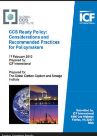 CCS ready policy: considerations and recommended practices for policymakers