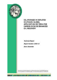 CO2 storage in depleted oilfields: global application criteria for carbon dioxide enhanced oil recovery