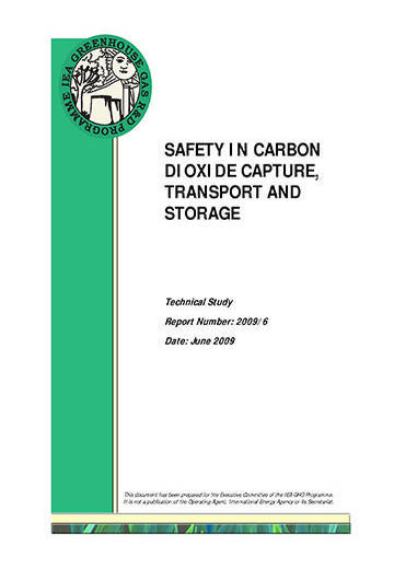 Safety in carbon dioxide capture, transport and storage