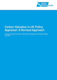 Carbon valuation in UK policy appraisal: a revised approach