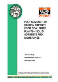 Post combustion carbon capture from coal fired plants: solid sorbents and membranes