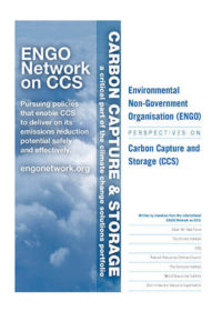Environmental non-government organisation (ENGO) perspectives on carbon capture and storage (CCS)