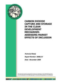 Carbon dioxide capture and storage in the clean development mechanism: assessing market effects of inclusion