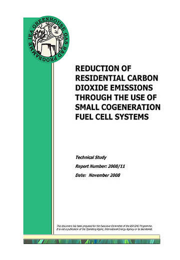 Reduction of residential carbon dioxide emissions through the use of small cogeneration fuel cell systems