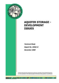 Aquifer storage: development issues
