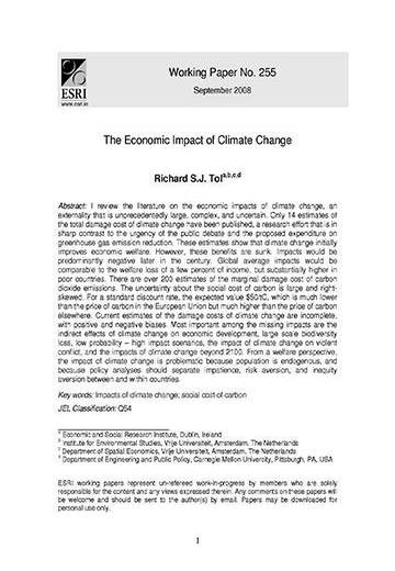 The economic impact of climate change