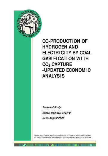 Co-production of hydrogen and electricity by coal gasification with CO2 capture: updated economic analysis