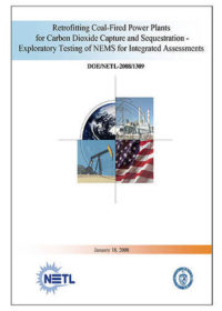 Retrofitting coal-fired power plants for carbon dioxide capture and sequestration: exploratory testing of NEMS for integrated assessments