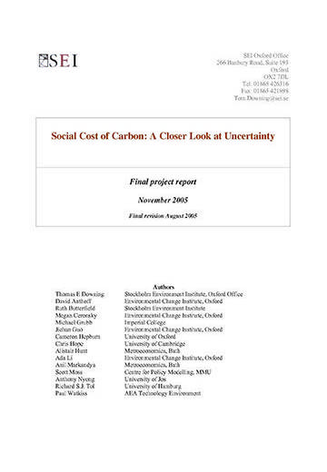 Social cost of carbon: a closer look at uncertainty