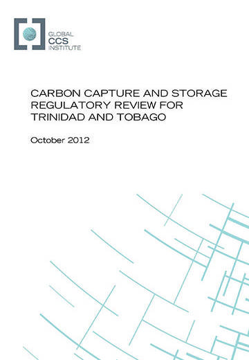 Carbon capture and storage regulatory review for Trinidad and Tobago