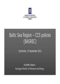 Baltic Sea region: CCS policies (BASREC)