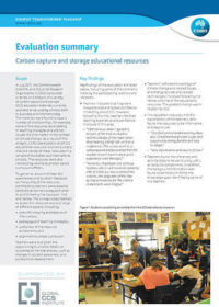Evaluation summary: carbon capture and storage educational resources