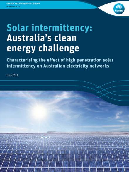 Solar intermittency: Australia's clean energy challenge