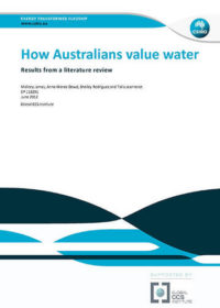 How Australians value water: results from a literature review
